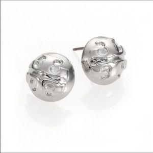 Tory Burch Dome Logo Stud Earrings